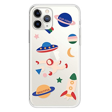 voordelige iPhone-hoesjes-hoesje Voor Apple iPhone 11 / iPhone 11 Pro / iPhone 11 Pro Max Ultradun / Transparant / Patroon Achterkant Hemel TPU