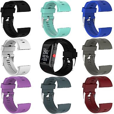 voordelige Watch band for Polar-zacht siliconenrubber horlogeband polsbandje voor Polar V800 fitnesshorloge