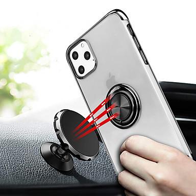Недорогие Кейсы для iPhone 7 Plus-Кейс для Назначение Apple iPhone 11 / iPhone 11 Pro / iPhone 11 Pro Max Покрытие / Кольца-держатели Кейс на заднюю панель Прозрачный ТПУ / Металл
