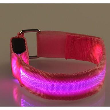 baratos Acessórios de Fitness-Braçadeira de Corrida com LED Faixa Refletiva Cinto Refletivo para