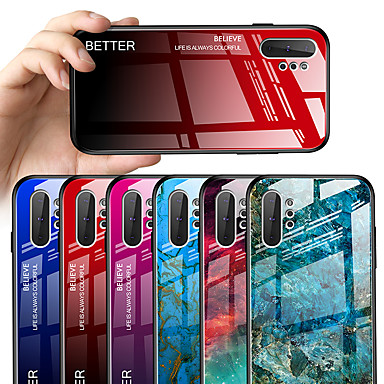 voordelige Galaxy Note-serie hoesjes / covers-hoesje voor samsung galaxy note 10 note 10 plus spiegel full body cases kleurverloop tpu gehard glas noot 9