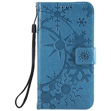 Недорогие Чехлы и кейсы для LG-Кейс для Назначение LG LG G6 / LG G5 / LG G4 Бумажник для карт Чехол Геометрический рисунок Кожа PU / ПК