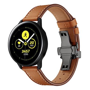 Недорогие Часы для Samsung-ремешок для часов для samsung galaxy active черная бабочка с пряжкой 20мм ремешок из натуральной кожи