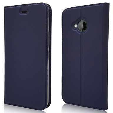 Недорогие Чехлы и кейсы для HTC-Кейс для Назначение HTC HTC U11 plus / HTC U11 Life Бумажник для карт / Магнитный / Авто Режим сна / Пробуждение Чехол Однотонный Кожа PU / ТПУ