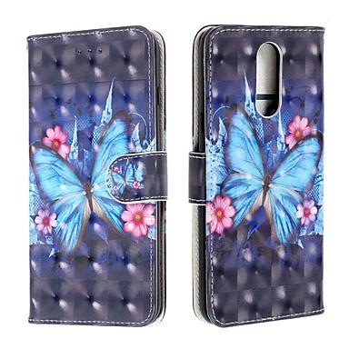 Недорогие Чехлы и кейсы для LG-чехол для lg v50 / lg stylo 5 / lg кошелек k40 / визитница / флип чехлы для тела бабочка искусственная кожа для lg g7 / g7-thinq / g8