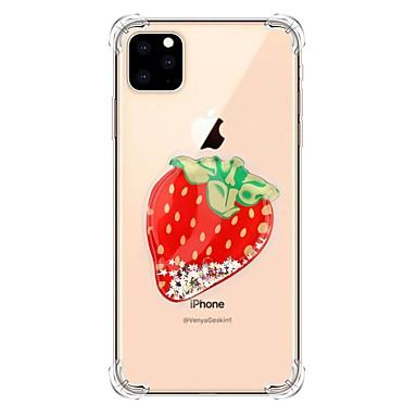 voordelige iPhone-hoesjes-hoesje Voor Apple iPhone 11 / iPhone 11 Pro / iPhone 11 Pro Max Stromende vloeistof / Transparant / Patroon Achterkant Glitterglans TPU