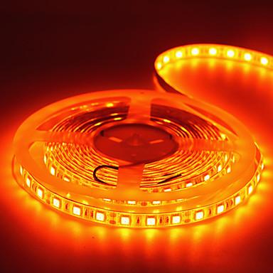 رخيصةأون شرائط ضوء مرنة LED-5m شرائط قابلة للانثناء لأضواء LED / أضواء سلسلة 300 المصابيح 5050 SMD 1 × 12V 2A محول برتقالي إبداعي / حزب / ديكور 85-265 V 1SET