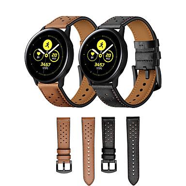 Недорогие Ремешки для часов Huawei-Ремешок для часов для Huawei Watch 2 / Samsung Galaxy Watch Active Samsung Galaxy / Huawei Классическая застежка / Бизнес группа Натуральная кожа Повязка на запястье