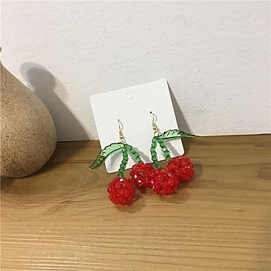 رخيصةأون أقراط-نسائي حلقات خرز فراولة الأقراط مجوهرات أحمر من أجل هدية مناسب للبس اليومي مهرجان 1 زوج