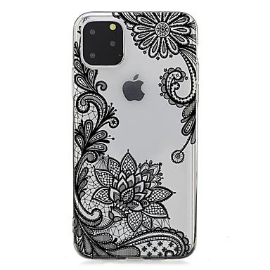 voordelige iPhone 5 hoesjes-hoesje Voor Apple iPhone 11 / iPhone 11 Pro / iPhone 11 Pro Max Ultradun / Transparant / Patroon Achterkant Bloem TPU