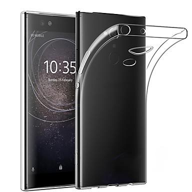 Недорогие Чехлы и кейсы для Sony-Кейс для Назначение Sony Sony XA2 Plus Защита от пыли / Ультратонкий / Прозрачный Кейс на заднюю панель Однотонный ТПУ