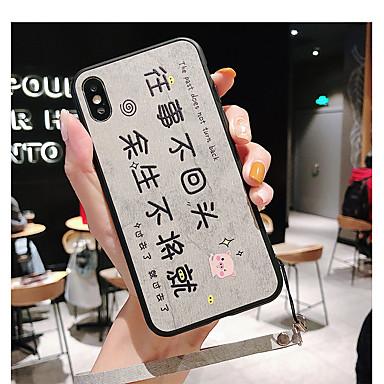 olcso iPhone 6s tokok-Case Kompatibilitás Apple iPhone 11 / iPhone 11 Pro / iPhone 11 Pro Max Ultra-vékeny Fekete tok Szó / bölcselet / Állat / Rajzfilm TPU / Poliészter