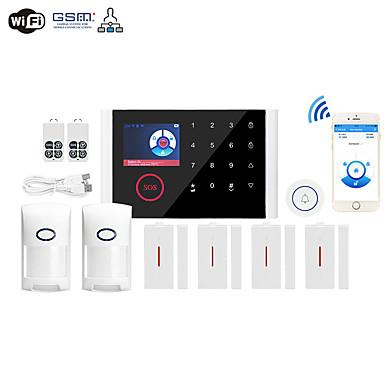povoljno Sigurnosni senzori-wifi + gsm jezik s više mreža bežični gsm protuprovalni alarm wifi kućni alarm domaćin bežični zvono alarmni sustav ostali / kućni alarmni sustavi / alarmni domaćin gsm + wifi ios / android platforma