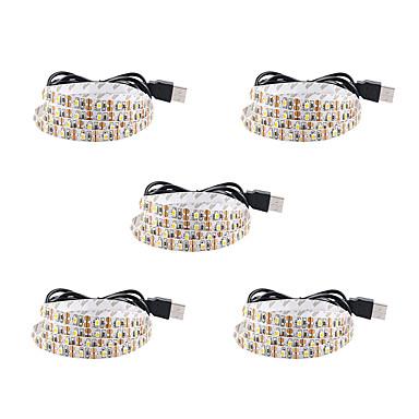 رخيصةأون شرائط ضوء مرنة LED-1 متر مرنة أدى ضوء شرائط 60 المصابيح smd3528 8 ملليمتر دافئ أبيض / أبيض / أحمر للماء / حزب / الزخرفية 5 فولت 5 قطع