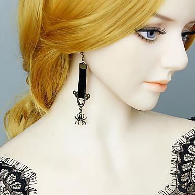 رخيصةأون أقراط-نسائي أقراط قطرة حلقات قديم عناكب ترف عتيق شائع موضة الأقراط مجوهرات أسود من أجل الهالووين مناسب للبس اليومي 1 زوج