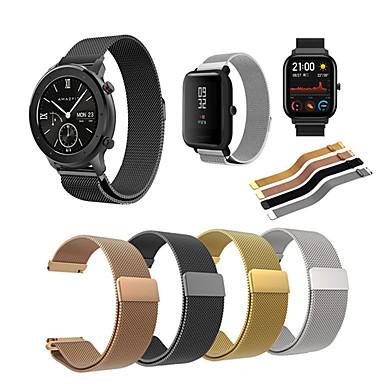 Недорогие Аксессуары для смарт-часов-ремешок для часов из нержавеющей стали миланский для хуами amazfit gts / amazfit bip / gtr 42mm