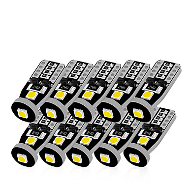 Недорогие Освещение салона авто-10 шт. T10 светодиодный белый 3SMD 5050 светодиодный свет автомобиля W5W 194 168 Canbus ошибка лампы 12 В клин лампы указатель поворота световой полосы декодер знак