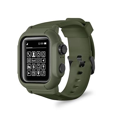 Недорогие Ремешки для Apple Watch-Ремешок для часов для Apple Watch Series 4 / Apple Watch Series 3 / Apple Watch Series 2 Apple Спортивный ремешок Поликарбонат / силиконовый Повязка на запястье