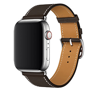 voordelige Apple Watch-bandjes-horlogeband voor Apple Watch-serie 5/4/3/2/1 Apple Sport-band / moderne gesp lederen polsband