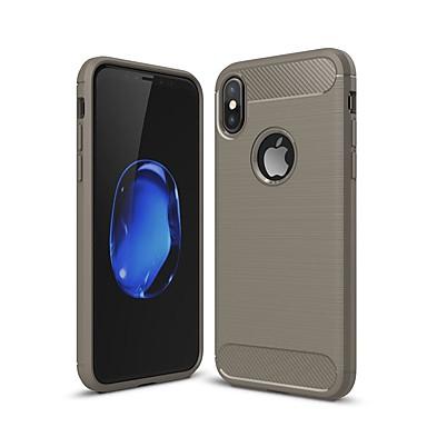 Недорогие Кейсы для iPhone-Кейс для Назначение Apple iPhone XS / iPhone XR / iPhone XS Max Защита от удара / Ультратонкий Кейс на заднюю панель Однотонный Углеродное волокно