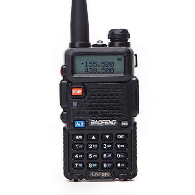 ieftine Walkie Talkies-baofeng uv-5r 5km-10km 1800mah 5w walkie talkie cu două sensuri radio fm radio display LCD cu frecvență de zbor flash 136-174mhz 400-470mhz