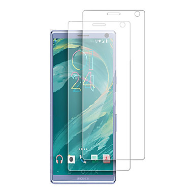 olcso Sony képernyővédők-képernyővédő sony xperia 10 plus / 1 / l3 / l2 / xz3 / xa1 / xz2 compact / xa2 ultra nagy felbontású (hd) elülső képernyővédő 2 db edzett üveg