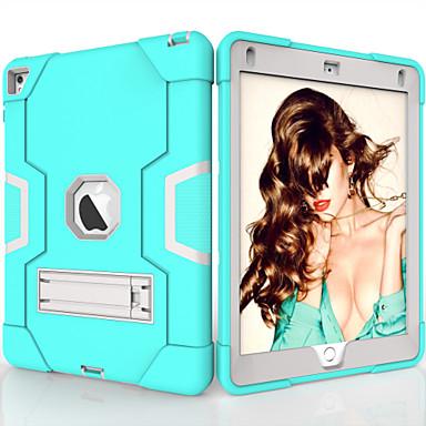 رخيصةأون أغطية أيباد-غطاء من أجل Apple iPad Air / iPad 4/3/2 / iPad (2018) ضد الصدمات / مع حامل غطاء خلفي لون سادة TPU / الكمبيوتر الشخصي