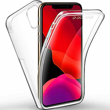 Недорогие Кейсы для iPhone 7 Plus-360-градусный чехол для всего тела для iphone 11 pro / iphone 11 pro max / iphone 11 чехол прозрачный пк силиконовый тонкий гель тпу мягкий чехол для iphone xs max xr xs x 8 плюс 8 7 плюс 7 6 плюс 6