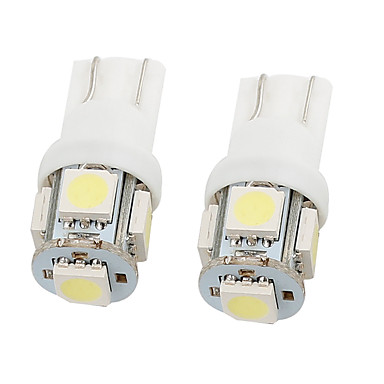 voordelige Autobinnenverlichting-2 stks 12 v wit 5050 t10 5 smd auto led meter zijmarkeringslicht - algemene toepassing