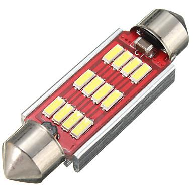 voordelige Autobinnenverlichting-1 stuk auto gloeilampen 3.2 W SMD 4014 360 lm 12 led-interieurverlichting voor Volkswagen / Toyota / Benz algemene motoren alle jaren 42mm