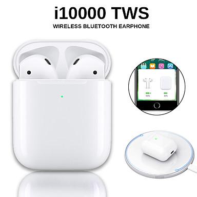 levne Headsety a sluchátka-originální i10000 tws bezdrátová sluchátka bluetooth 5.0 sluchátka s dotykovým ovládáním přenosná sportovní sluchátka bezdrátová qi nabíjení inear kontrola automatická detekce uší přehrávání a pauza v