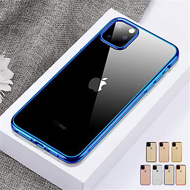 Недорогие Кейсы для iPhone X-Кейс для Назначение Apple iPhone 11 / iPhone 11 Pro / iPhone 11 Pro Max Защита от удара / Полупрозрачный Кейс на заднюю панель Однотонный ТПУ