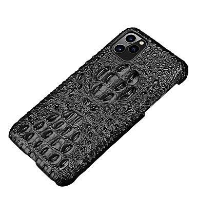 Недорогие Кейсы для iPhone 7 Plus-Кейс для Назначение Apple iPhone 11 / iPhone 11 Pro / iPhone 11 Pro Max Ультратонкий Кейс на заднюю панель Плитка / Цветы Настоящая кожа / ПК