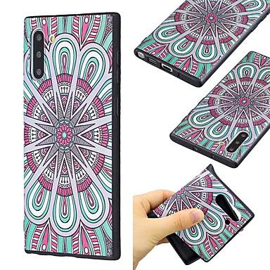 Недорогие Чехлы и кейсы для Galaxy Note-Кейс для Назначение SSamsung Galaxy Note 9 / Note 8 / Galaxy Note 10 Ультратонкий / С узором Кейс на заднюю панель Цветы ТПУ