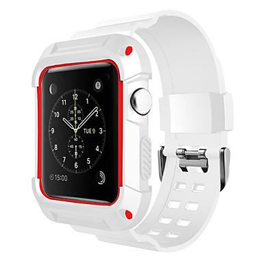 Недорогие Ремешки для Apple Watch-Ремешок для часов для Apple Watch Series 3 / Apple Watch Series 2 / Apple Watch Series 1 Apple Спортивный ремешок силиконовый Повязка на запястье