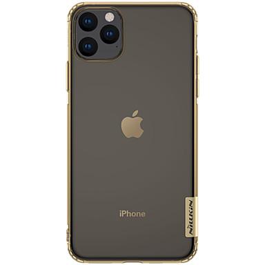 Недорогие Кейсы для iPhone-Кейс для Назначение Apple iPhone 11 / iPhone 11 Pro / iPhone 11 Pro Max Защита от удара / Ультратонкий / Прозрачный Кейс на заднюю панель Однотонный ТПУ