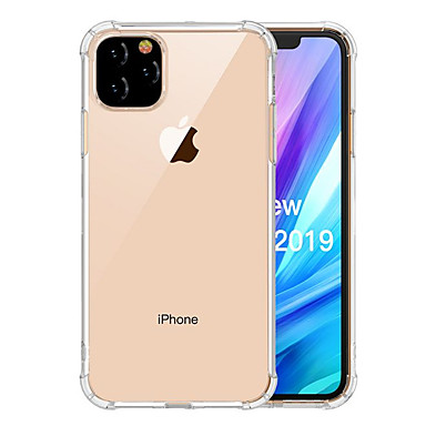 Capinha Para Apple iPhone 11 / iPhone 11 Pro / iPhone 11 Pro Max Antichoque / Impermeável / Transparente Capa traseira Transparente TPU