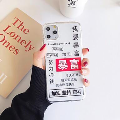 olcso Nova kolekcija-Case Kompatibilitás Apple iPhone 11 / iPhone 11 Pro / iPhone 11 Pro Max Ultra-vékeny Fekete tok Szó / bölcselet / Állat / Rajzfilm TPU