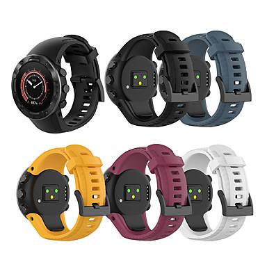 Недорогие Аксессуары для смарт-часов-Ремешок для часов для Suunto 5 Suunto Спортивный ремешок силиконовый Повязка на запястье