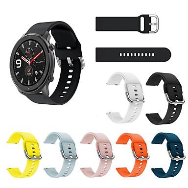 Недорогие Часы для Samsung-спортивный силиконовый ремешок для часов ремешок на запястье для xiaomi huami amazfit gtr 42 мм / amazfit bip youth / samsung galaxy watch активные умные часы браслет браслет сменные аксессуары