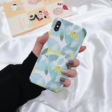 Недорогие Кейсы для iPhone 7 Plus-Кейс для Назначение Apple iPhone XS / iPhone XR / iPhone XS Max С узором Кейс на заднюю панель Цветы ТПУ