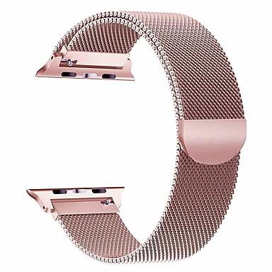 voordelige Apple Watch-bandjes-horlogeband voor Apple Watch-serie 5/4/3/2/1 Apple Milanese polsriem van roestvrij staal met lus