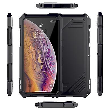 Недорогие Кейсы для iPhone X-чехол для яблока применим к металлическому корпусу мобильного телефона xs max металлическая рамка «три в одном» xr водонепроницаемая камера x / xs все включено творческий объектив против падения