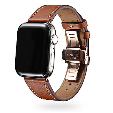 Недорогие Аксессуары для смарт-часов-Ремешок для часов для Серия Apple Watch 5/4/3/2/1 Apple Бизнес группа Натуральная кожа Повязка на запястье