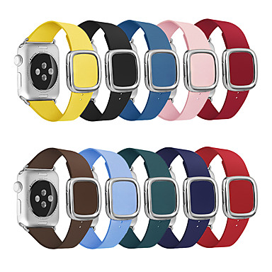 voordelige Smartwatch-accessoires-lederen lus band voor Apple horlogeband 44 / 42mm moderne stijl armband polsband accessoires voor iwatch-serie 5/4/3/2/1 40 / 38mm