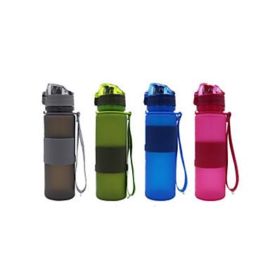 olcso Kemping felszerelések-csésze 650 ml Silica Gel Hordozható Összecsukható mert Kemping Kempingezés / Túrázás / Barlangászat Cross-Country Zöld Piros Kék