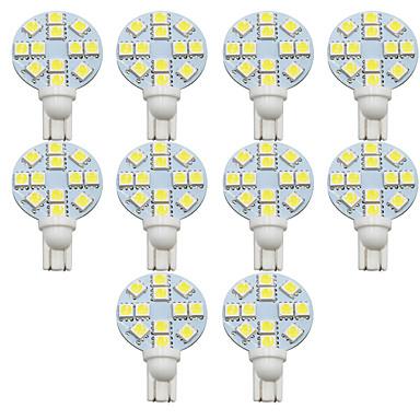 olcso Szerelő világítás-10db t10 autó izzók 1 w smd 5050 200 lm 12-es rendszámtábla lámpák / munkalámpák / hátsó lámpák univerzális bosszúálló / elysee / 9-5