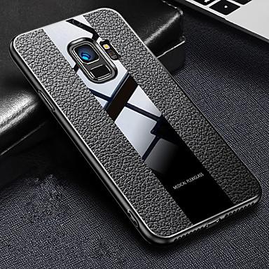 Недорогие Чехлы и кейсы для Galaxy S-Кейс для Назначение SSamsung Galaxy S9 / S9 Plus / S8 Plus Защита от удара / Ультратонкий / Матовое Кейс на заднюю панель Имитация дерева Кожа PU