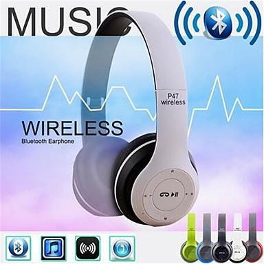 olcso Gaming fülhallgatók-vezeték nélküli bluetooth fejhallgató zajszűrő fülhallgató összecsukható sztereó basszus hanggal állítható fülhallgató mikrofonnal a pc telefonhoz