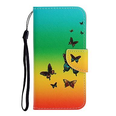 お買い得  iPhone 6 用ケース-ケース 用途 Apple iPhone 11 / iPhone 11 Pro / iPhone 11 Pro Max ウォレット / カードホルダー / スタンド付き フルボディーケース バタフライ PUレザー
